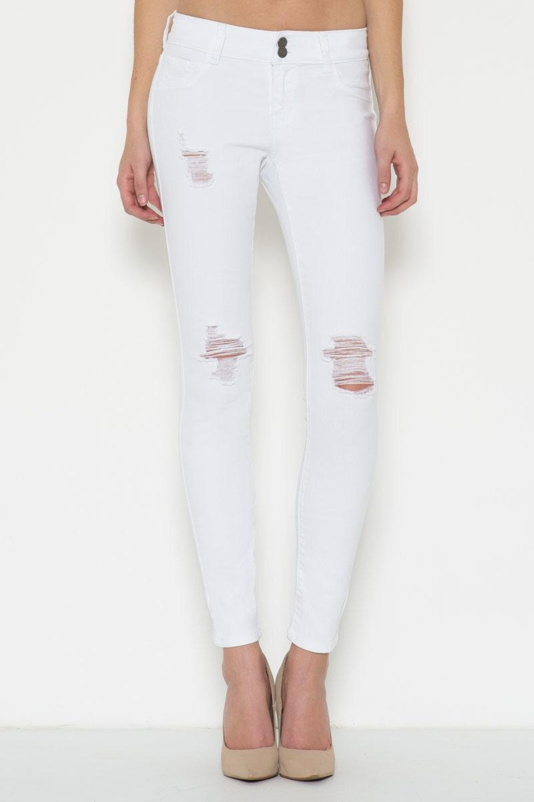 Cello Jeans White Distressed Jeans - Main Image