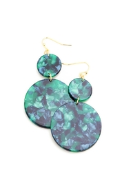 Wild Lilies Jewelry  Celluloid Disc Earrings - Product Mini Image