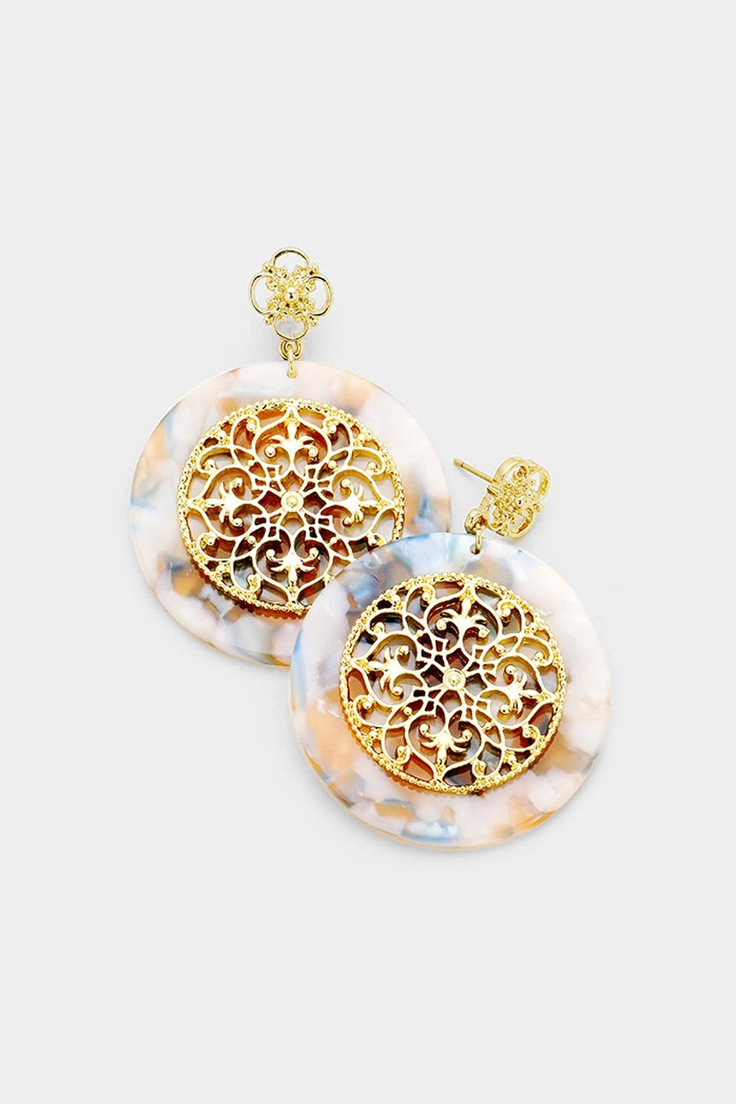 94007abe9df21c Wild Lilies Jewelry Celluloid Statement Earrings - Front Cropped Image