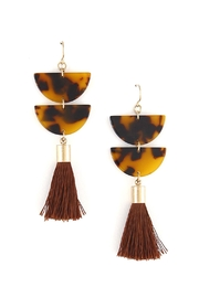 Wild Lilies Jewelry  Celluloid Tassel Earrings - Product Mini Image