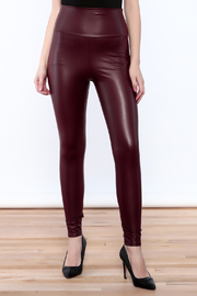 Cemi Ceri Faux Leather Leggings - Front cropped