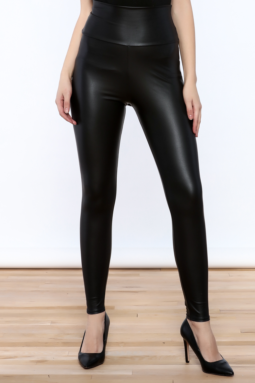 Cemi Ceri Faux Leather Leggings - Front Cropped Image