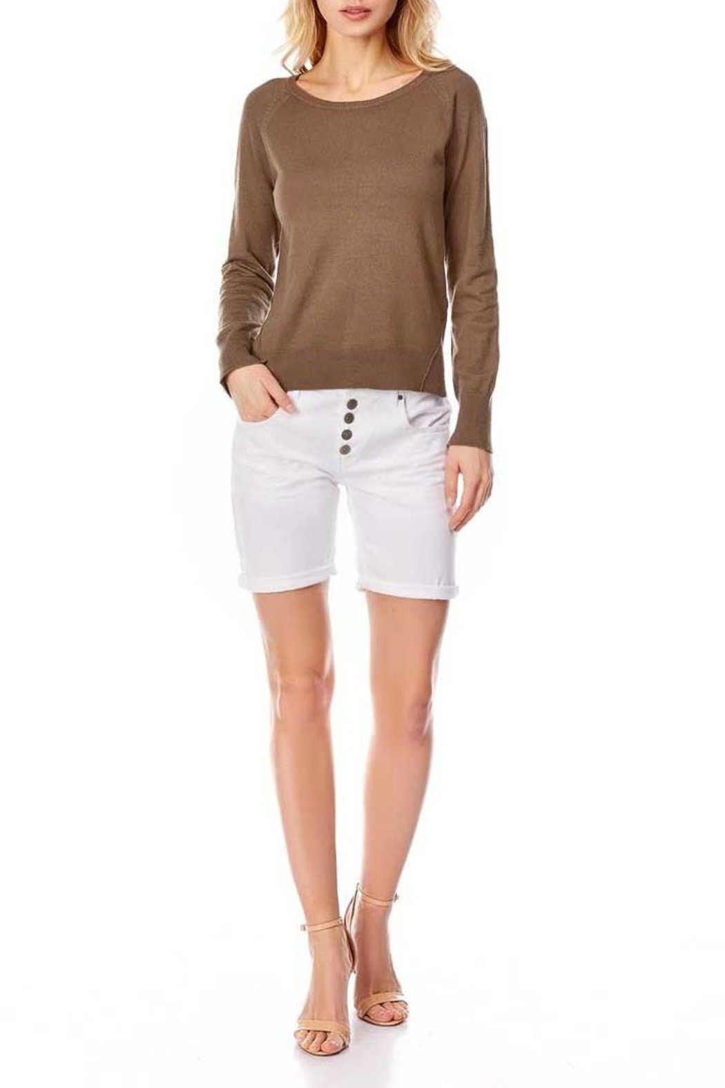 Best Mountain Center Seam Sweater - Front Cropped Image
