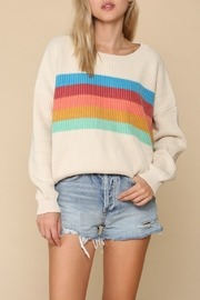 Blank Paige Center-Stripe Sweater - Product Mini Image