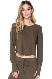 Bobi Los Angeles Centerseam Cropped Top - Front cropped