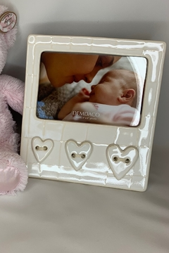 DEMDACO Ceramic  baby frame Heart detail - Product List Image