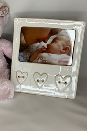 DEMDACO Ceramic  baby frame Heart detail - Product Mini Image
