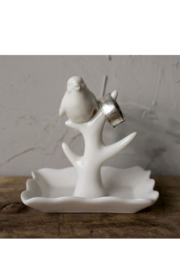 The Birds Nest CERAMIC BIRD RING HOLDER - Front full body