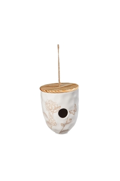 Shoptiques Product: Ceramic Birdhouse, White