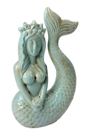 GHome2 Ceramic Mermaid Sculpture - Front cropped