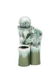 Evergreen Enterprises Ceramic Water Fountain - Front cropped
