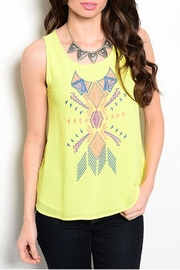 Ceres Lime Tribal Top - Product Mini Image