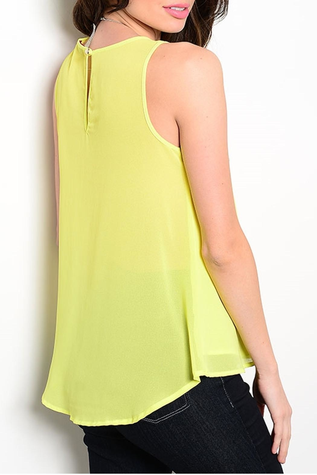 Ceres Lime Tribal Top - Front Full Image