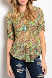 Ceres Peplum Paisley Top - Product Mini Image