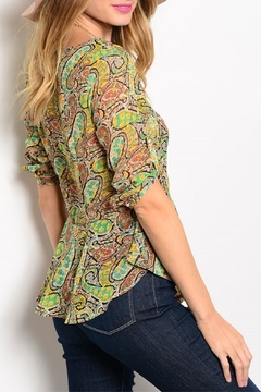 Ceres Peplum Paisley Top - Alternate List Image
