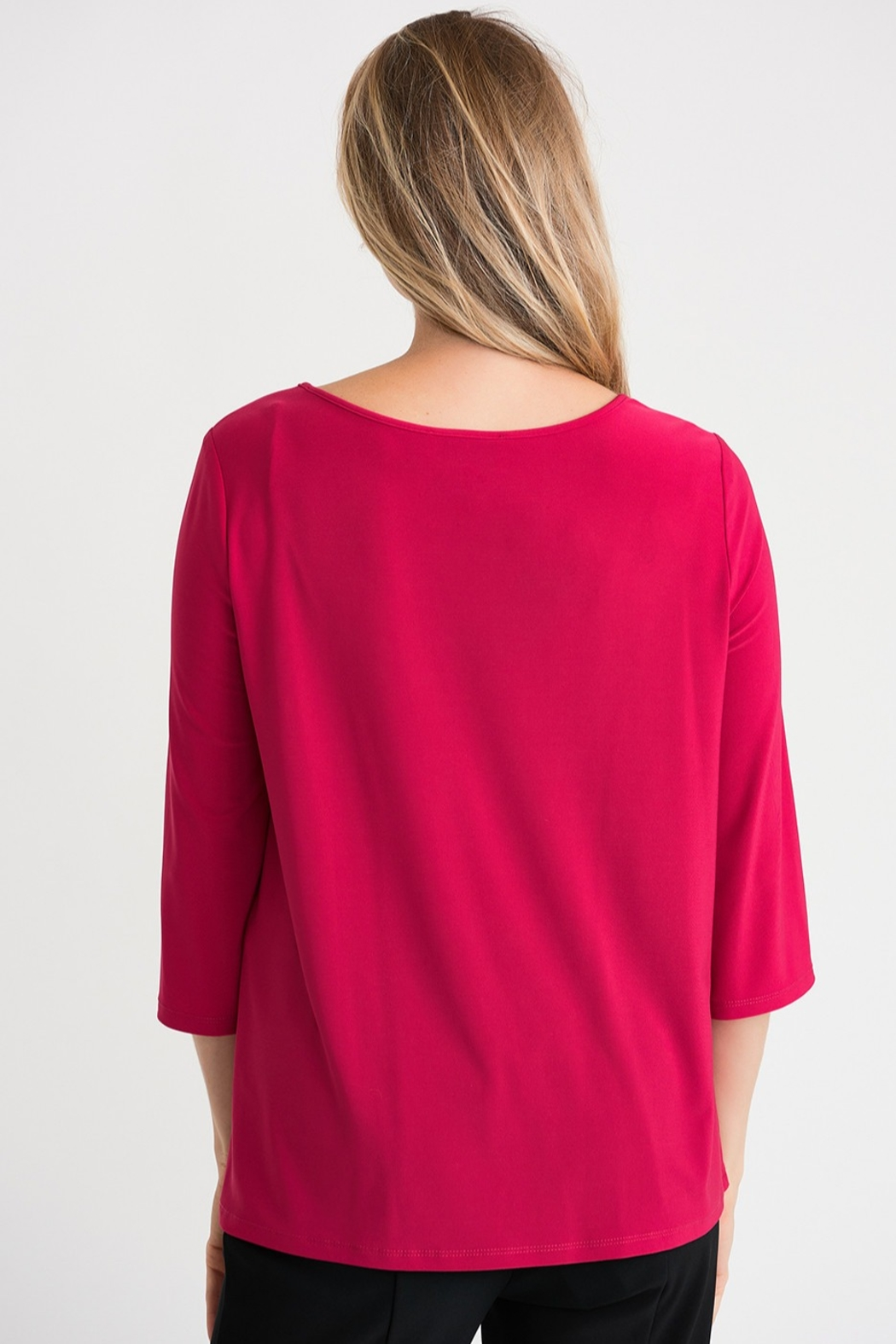 Joseph Ribikoff Cerise top with soft tie knot - Side Cropped Image