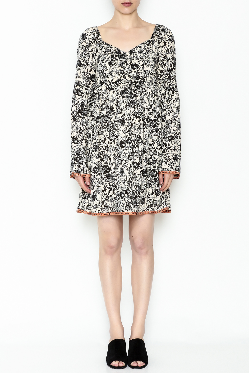 Ces Femme Floral Flare Dress - Front Full Image