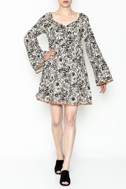 Ces Femme Floral Flare Dress - Front cropped