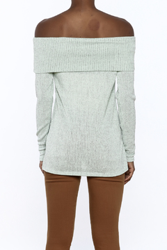 Ces Femme Seafoam Green Ribbed Top - Alternate List Image