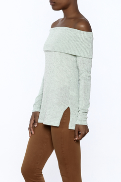 Ces Femme Seafoam Green Ribbed Top - Product List Image
