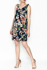 Ces Femme Sleeveless Floral Shift Dress - Side cropped