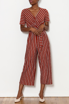 Ces Femme Striped Wrap Jumpsuit - Product List Image