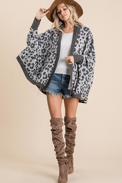 Ces Femme Animal Print Open Front Cardigan - Product List Image