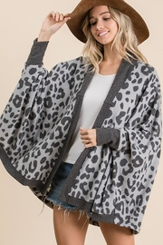 Ces Femme Animal Print Open Front Cardigan - Other