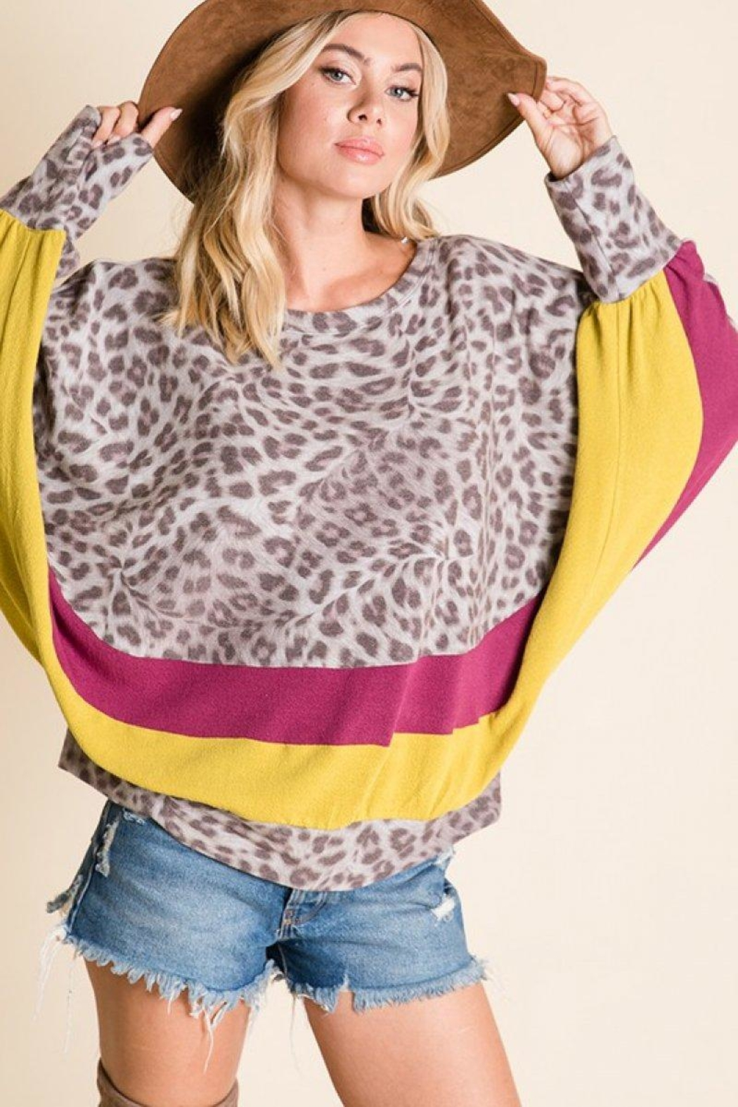 Ces Femme Animal Print Top - Side Cropped Image