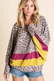 Ces Femme Animal Print Top - Front cropped