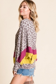 Ces Femme Animal Print Top - Back cropped