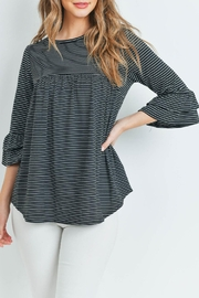 Ces Femme Black Striped Tunic - Product Mini Image