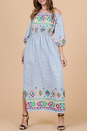 Ces Femme Boho Embroidered Dress - Product Mini Image