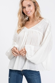 Ces Femme Boho Embroidered Top - Product Mini Image