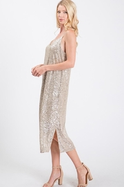 Ces Femme Champagne Sequin Dress - Front full body
