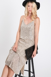 Ces Femme Champagne Sequin Dress - Back cropped