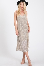 Ces Femme Champagne Sequin Dress - Side cropped