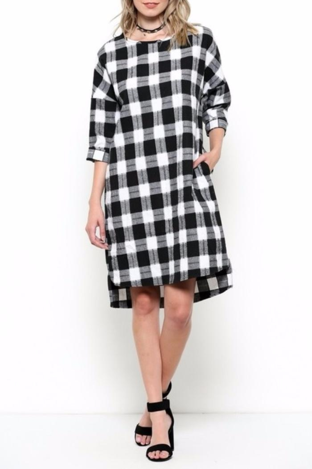 Ces Femme Check Dress - Front Cropped Image