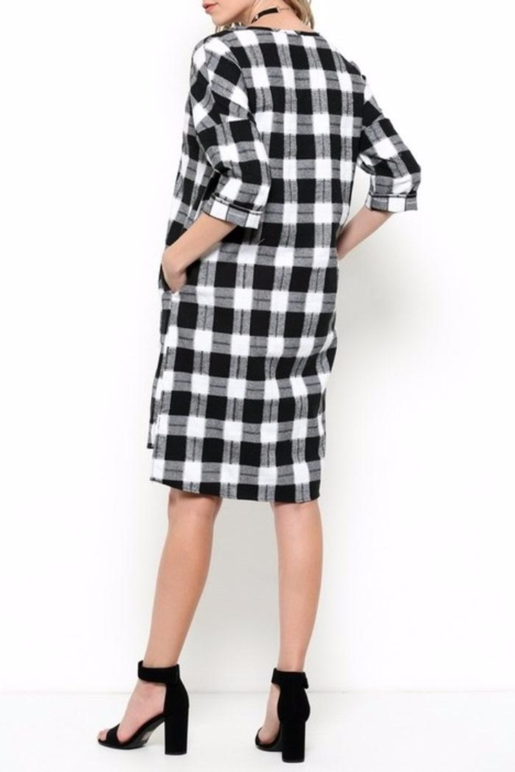 Ces Femme Check Dress - Side Cropped Image