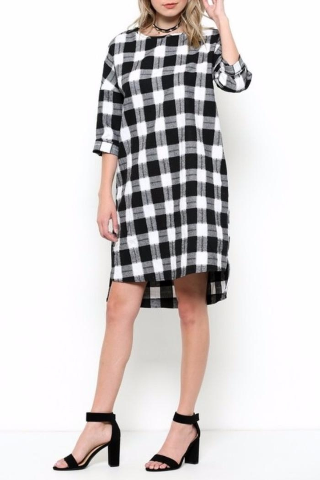 Ces Femme Check Dress - Front Full Image