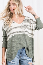 Ces Femme Colorblock Casual Boxy Tunic Top - Product Mini Image