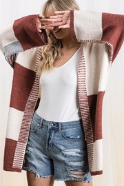 Mint Cloud Boutique Colorblock Knit Cardigan - Front cropped
