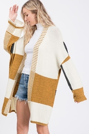 Mint Cloud Boutique Colorblock Knit Cardigan - Side cropped
