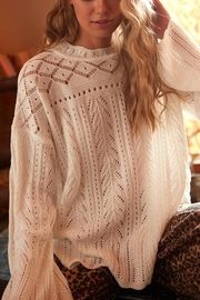 Ces Femme Cream Cutout-Detail Sweater - Front full body