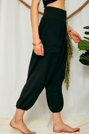 Ces Femme High Rise Waist Banded Slouchy Harem Pants - Side cropped