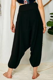 Ces Femme High Rise Waist Banded Slouchy Harem Pants - Front full body