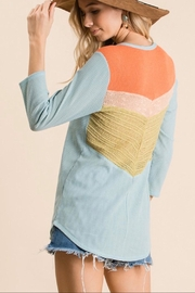 Ces Femme Knit Colorblock Top - Product Mini Image