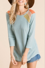 Ces Femme Knit Colorblock Top - Front full body
