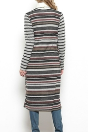 Ces Femme Long Striped Cardigan - Product Mini Image