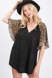 Ces Femme Lurex Animal Print Top - Front cropped